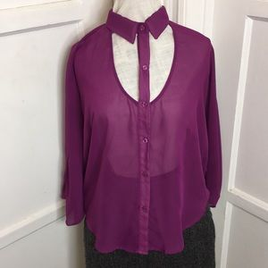 Nasty Gal orchid blouse size Small